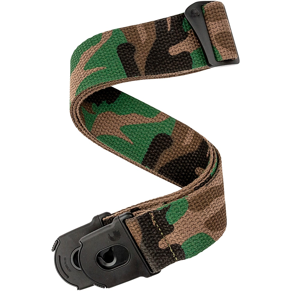D'Addario Planet Waves 50 mm Nylon Guitar Strap, Planet Lock, Camo