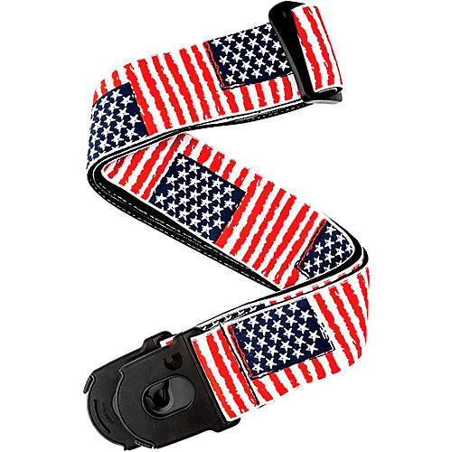 D'Addario Planet Waves 50 mm Nylon Guitar Strap, USA Flag Pattern