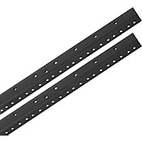 Raxxess Rack Rails (Pair) Black 16 Space