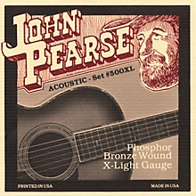 John Pearse 500XL Bronze Acoustic Guitar Strings