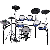 Rockenwraps V-Drums Wrap Blue Sparkle