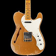 50s Custom Thinline Telecaster Electric Guitar Aged Aztec Gold over Gold Sparkle