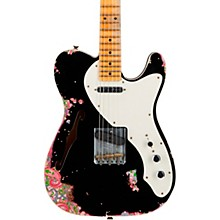 50s Custom Thinline Telecaster Electric Guitar Aged Black over Pink Paisley