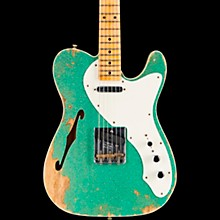 50s Custom Thinline Telecaster Electric Guitar Sea Foam Green Sparkle
