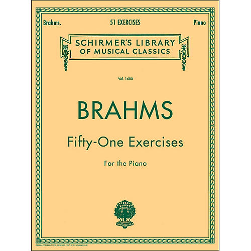 G. Schirmer 51 Exercises for Piano 51 By Brahms