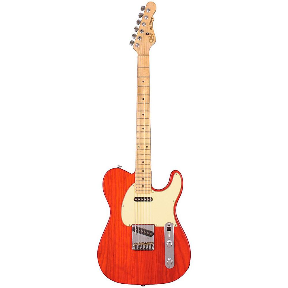 G&L ASAT Classic Electric Guitar Clear Orange Maple Fretboard 1273888005094