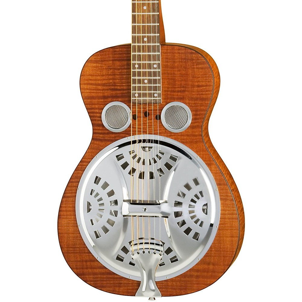 Dobro Hound Dog Square Neck Resonator Guitar Vintage Brown 1274115035963