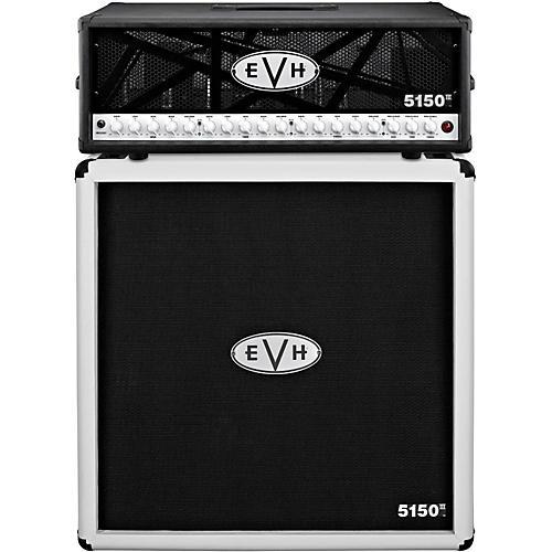 EVH 5150 III 100W Guitar Tube Head Black with 5150 III 412 Guitar Cab Ivory