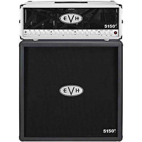 EVH 5150 III 100W Guitar Tube Head Ivory with 5150 III 412 Guitar Cab Black
