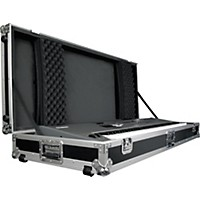 Road Runner Keyboard Flight Case With Casters Black 88 Key