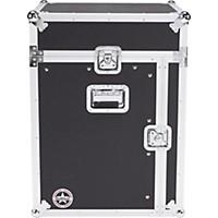 Road Runner Slant Mixer Rack Case/Vertical Rack Black 12 Sp