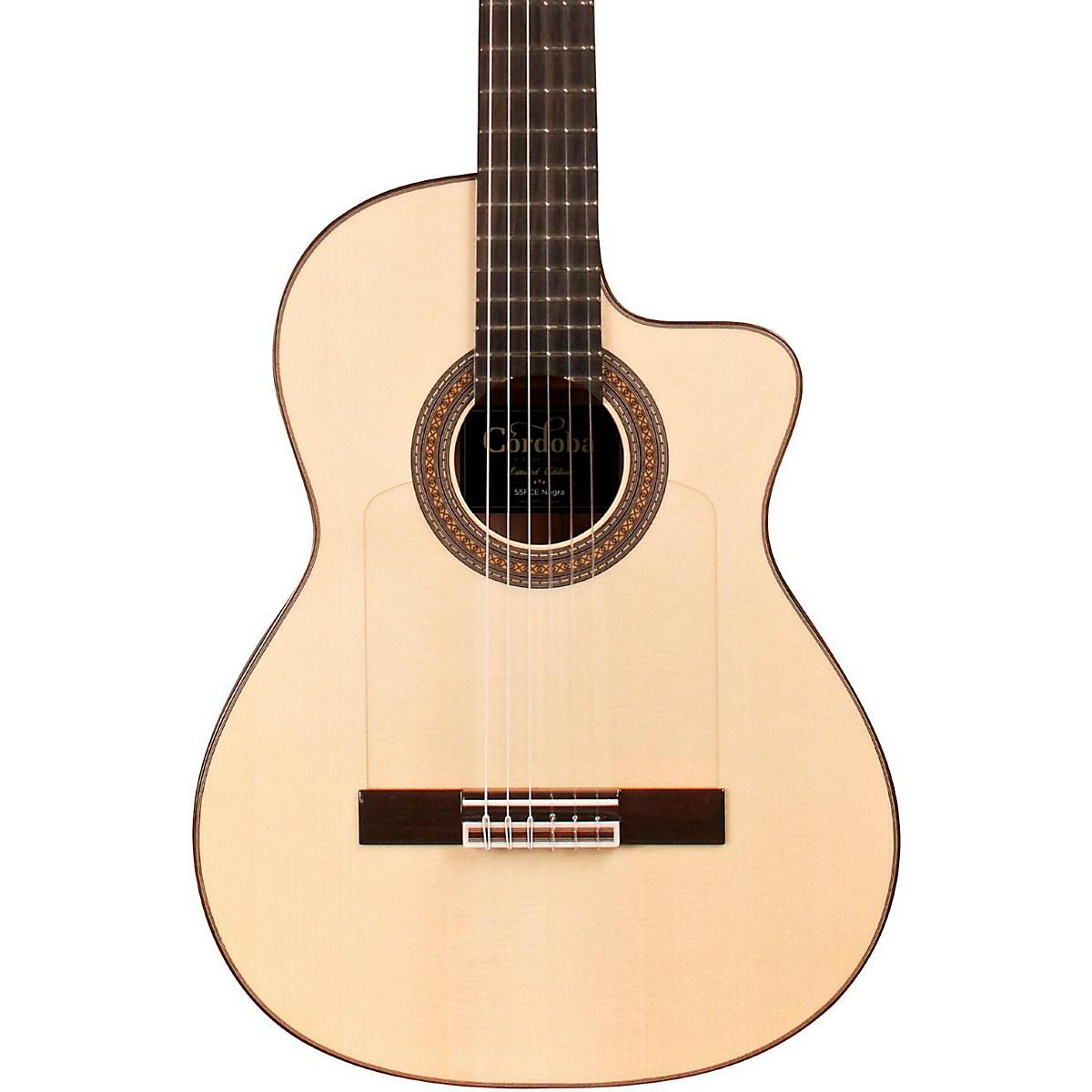 Cordoba 55FCE Thinbody Limited Flamenco Acoustic-Electric Guitar