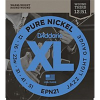 D'addario Epn21 Pure Nickel Jazz Lite  ...