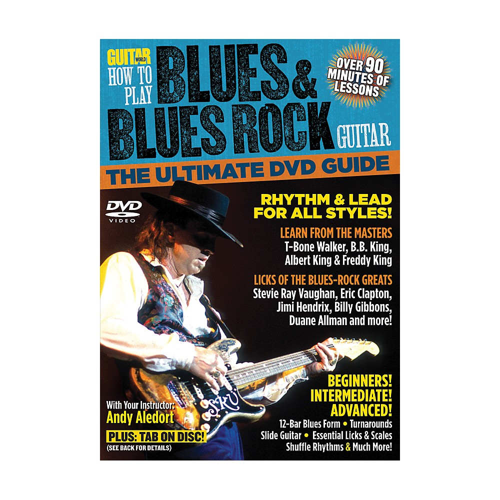 Alfred Guitar World How To Play Blues & Blues Rock Guitar DVD 1273887984046