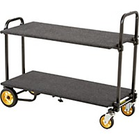 Rock N Roller R2 Micro Cart With Solid Deck And Carpeted Shelf