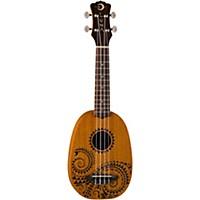 Luna Guitars Tattoo Pineapple Soprano Ukulele Mahogany