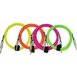 Dimarzio Neon Overbraid Instrument Cable Green 18 Ft.