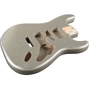 Mighty Mite Mm2700sprkl Stratocaster Replacement Body Sparkle Finish Silver