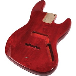 Mighty Mite Mm2703st Jazz Bass Replacement Body See Through Finish Red
