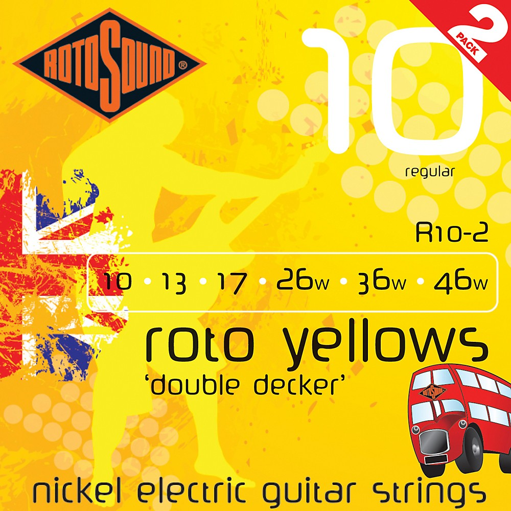 Rotosound Roto Yellows Double Deckers 2-Pack 1274115044715