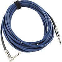Lava Blue Demon Instrument Cable Straight To Right Angle Blue 25 Ft.