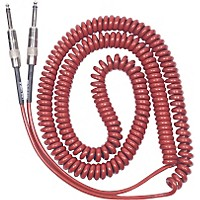 Lava Retro Coil 20 Foot Instrument Cable Straight To Straight Assorted Colors Metallic Red