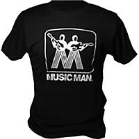 Music Man Silver Man Logo T-Shirt Black Medium