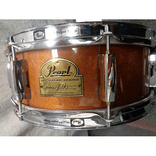 Pearl 5X13 Omar Hakim Snare Natural Mahogany Drum