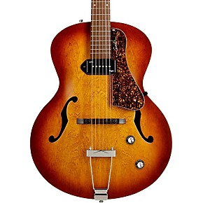 godin 5th avenue kingpin archtop hollowbody electric guitar with p 90 pickup cognac burst. Black Bedroom Furniture Sets. Home Design Ideas