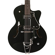 Godin 5th Avenue Uptown GT Guitar with Bigsby Level 1 Solid Black