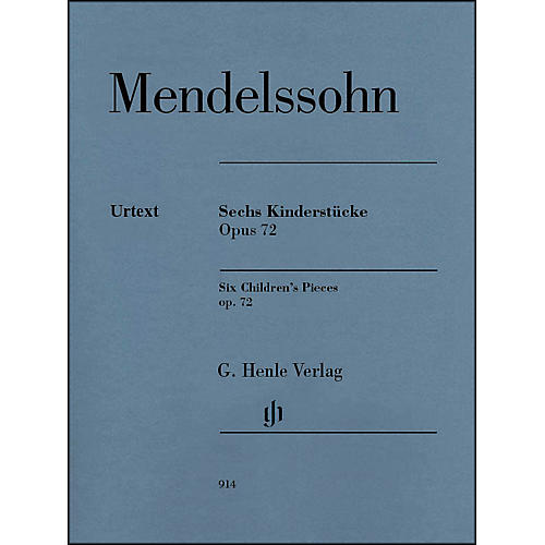 G. Henle Verlag 6 Children's Pieces Op. 72 for Piano Solo By Mendelssohn
