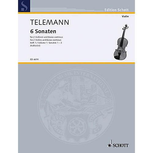 Schott 6 Sonatas - Vol. 1:1-3 Schott Series Composed by Georg Philipp Telemann