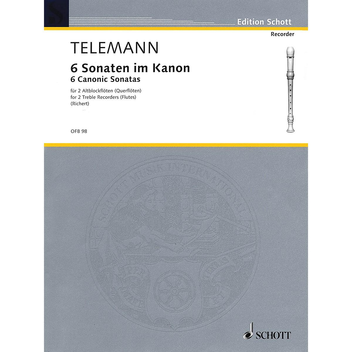 Schott 6 Sonatas in Canon, Op. 5 Schott Series by Georg Philipp Telemann