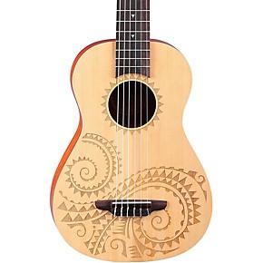 luna guitars 6 string baritone ukulele tattoo guitar center. Black Bedroom Furniture Sets. Home Design Ideas