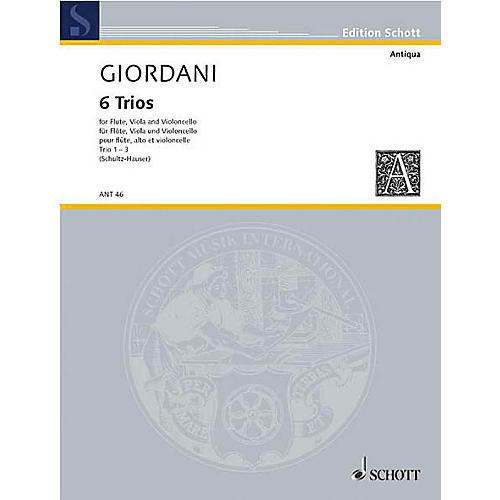 Schott 6 Trios Op. 12 - Volume 1 Schott Series by Tommaso Giordani Arranged by Karlheinz Schultz-Hauser