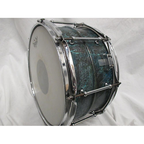 Pork Pie 6.5X13 US CUSTOM PATINA BRASS SNARE Drum