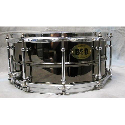 Pork Pie 6.5X14 Big Black Black Nickel Drum