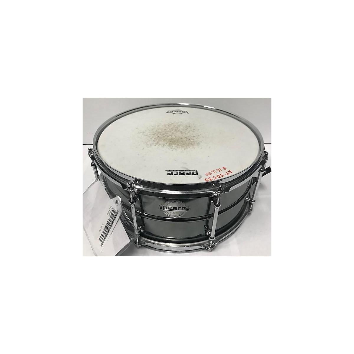 Peace 6.5X14 Black Chrome Snare Drum