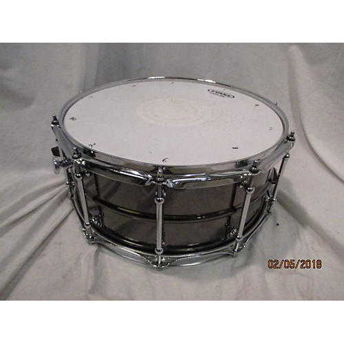 Spaun 6.5X14 Black Nickel Over Brass Drum