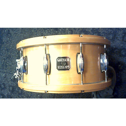 used gretsch drums 6 5x14 contoured wood hoop snare drum guitar center. Black Bedroom Furniture Sets. Home Design Ideas