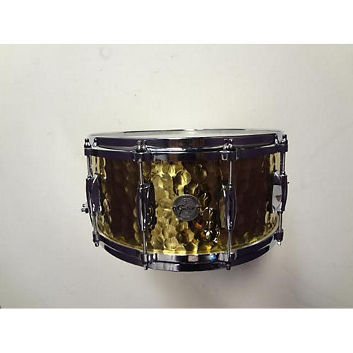 Gretsch Drums 6.5X14 Gold Series Hammered Brass Snare Drum