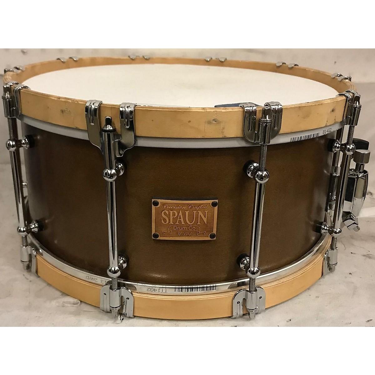 Spaun 6.5X14 Revolutionary Wood Hoop Snare Drum