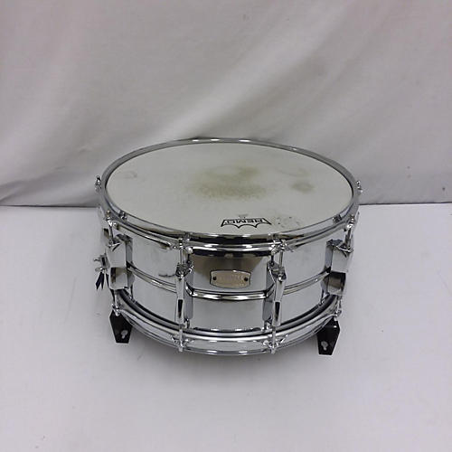 used yamaha 6 5x14 stage custom snare drum silver 15 guitar center. Black Bedroom Furniture Sets. Home Design Ideas