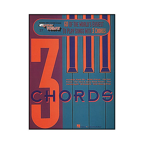 Hal Leonard 60 Of The World's Easiest To Play Songs with 3 Chords E-Z Play 27