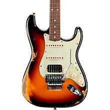 60 Stratocaster HSS Floyd Rose Heavy Relic Rosewood Fingerboard Electric Guitar 3-Color Sunburst