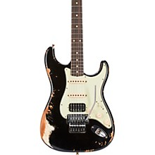 60 Stratocaster HSS Floyd Rose Heavy Relic Rosewood Fingerboard Electric Guitar Black