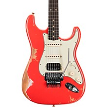 60 Stratocaster HSS Floyd Rose Heavy Relic Rosewood Fingerboard Electric Guitar Fiesta Red
