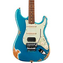 60 Stratocaster HSS Floyd Rose Heavy Relic Rosewood Fingerboard Electric Guitar Lake Placid Blue