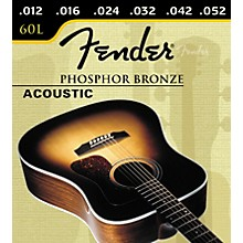 Fender 60L Phosphor Bronze Light Ball End Acoustic Guitar Strings