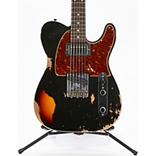 60s HS Telecaster Custom Heavy Relic Limited Edition Electric Guitar Aged Black over 3-Color Sunburst